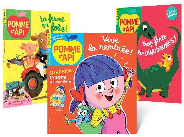 Les couvertures des derniers magazines Pomme d'Api