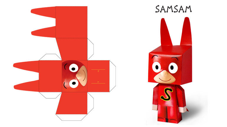 Le paper toy de SamSam