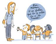La rentrée en maternelle en 10 questions/réponses avec Pomme d'Api - Illustrations Robin