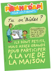 """""""Pomme d'Api pour les parents"""", supplément du numéro 590 de Pomme d'Api, avril 2015. Illustrations Peter Elliott."""