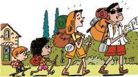 """""""L'aventure, c'est partout"""" - Texte Anne Bideault - Illustrations Pierre Fouillet - Supplément pour les parents du magazine Pomme d'Api d'août 2015"""