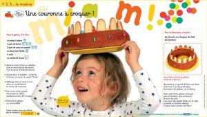 """Téléchargez """"Une couronne à croquer"""", Pomme d'Api, janvier 2017. Conception et texte : Marie-Pascale Nicolas-Cocagne. Photos : Tabou."""