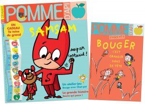 Le numéro de mars du magazine Pomme d'Api pour les 3-7 ans et son supplément pour les parents, en vente en kiosque à partir du 24 février.