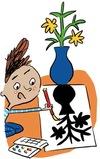 """Illustrations : Pierre Fouillet - """"Cultivons leur créativité, 5 idées d'activités artistiques pour éveiller leurs talents"""", supplément pour les parents, Pomme d'Api, février 2015"""
