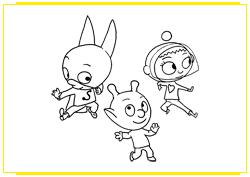 SamSam danse avec ses copains