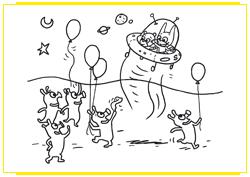 SamSam et Nounours décollent de la planète des Marchiens