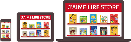 Le J'aime lire Store, une application multi supports