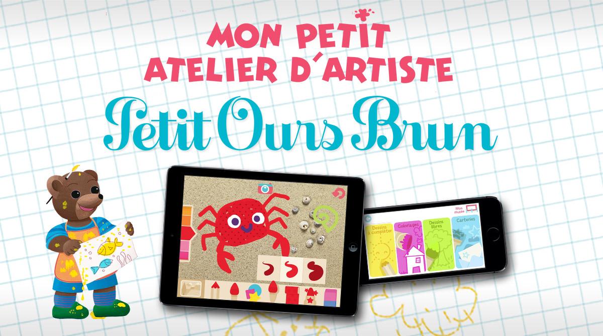 Appli - Mon petit atelier d'artiste avec Petit Ours Brun