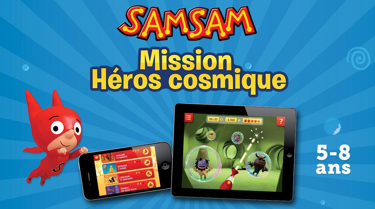Appli - SamSam mission héros cosmique