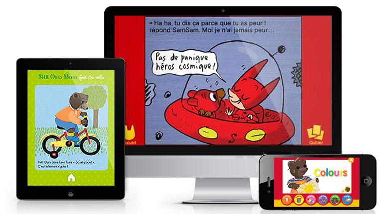 Les héros et les histoires de Pomme d'Api en version numérique
