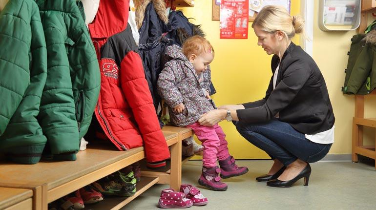 Sa première rentrée à l'école maternelle © Fotolia