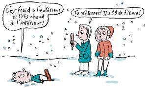 """""""Bouger, c'est grandir dans sa tête"""", supplément pour les parents du magazine Pomme d'Api, mars 2017 - Texte : Anne Bideault - Illustrations : Muzo."""