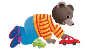 Les h ros et personnages du magazine enfant pomme d 39 api for Petit ours brun a la piscine