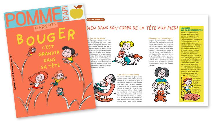 le cahier parents de Pomme d'Api : couverture et double page