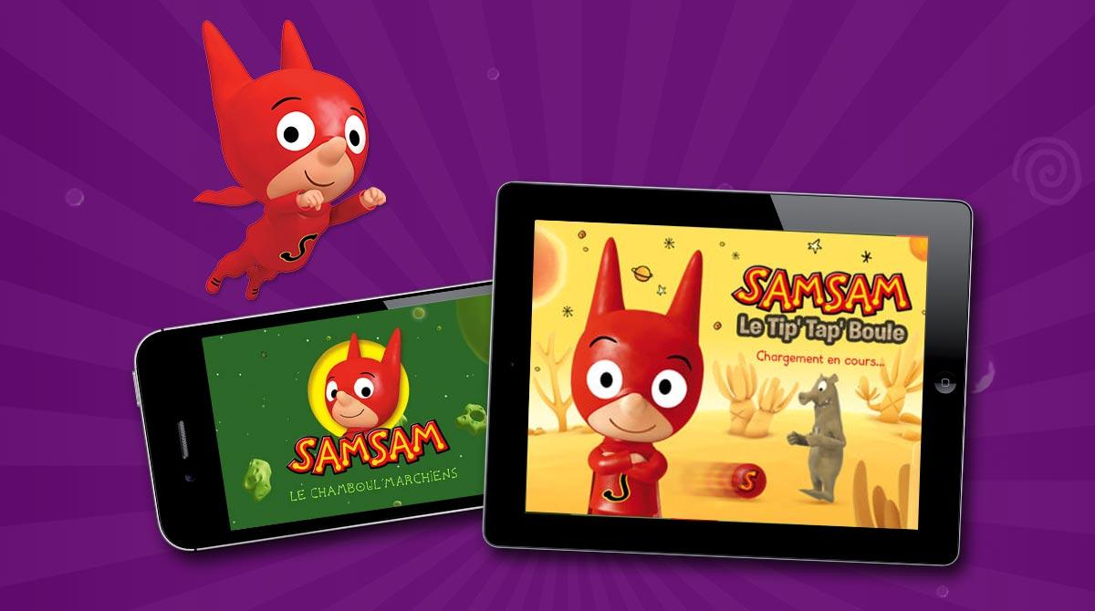 Retrouvez les applis de SamSam sur iPhone et iPad !