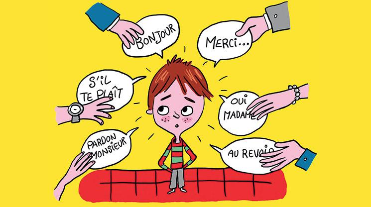 Comment apprendre la politesse aux enfants sans se crisper ? Illustration : Pierre Fouillet