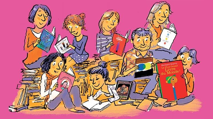 Imaginer la bibliothèque idéale des 3-7 ans. Illustration : Robin