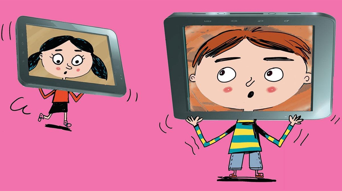 Les 3-7 ans face aux écrans. Illustration : Pierre Fouillet