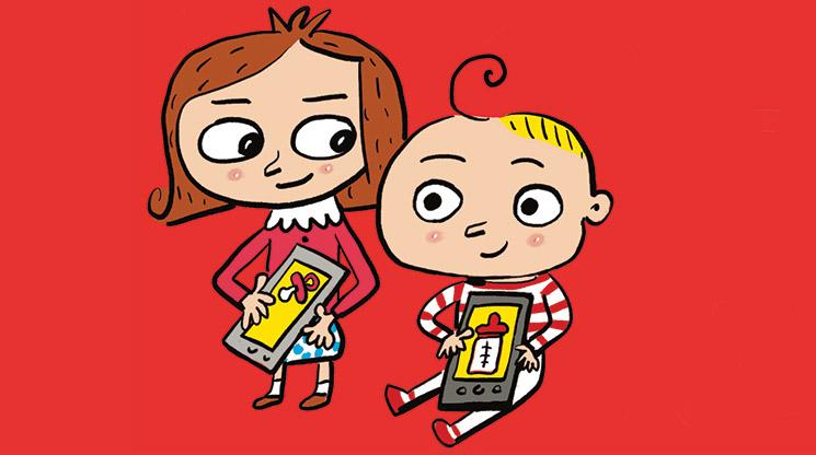 Nos téléphones et nos enfants. Illustration : Pierre Fouillet