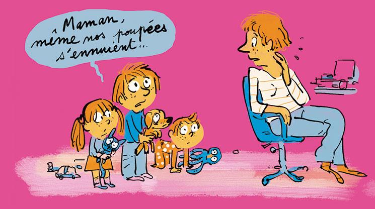 15 activités pour occuper les enfants à la maison. Illustration : Robin