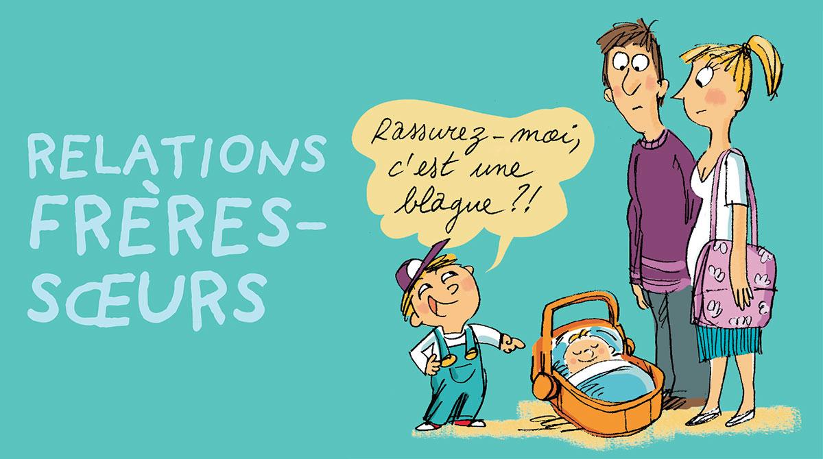 Relations frères-soeurs : quand faut-il s'en mêler ? Illustrations : Peter Elliott