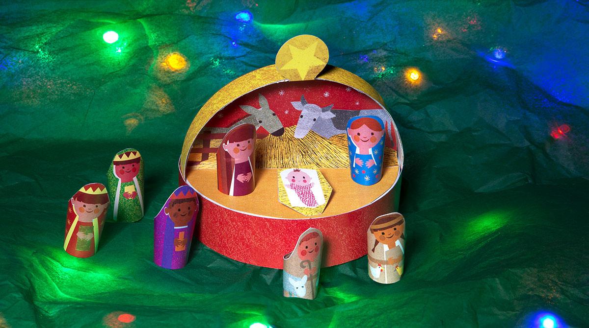 Bricolage de Noël : fabriquez une crèche avec votre enfant. Photo : Bernard Taboureau