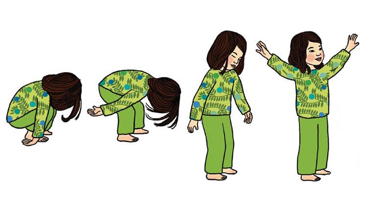 """""""Le petit yoga"""" : la plante qui pousse. Illustration : Ilya Green"""