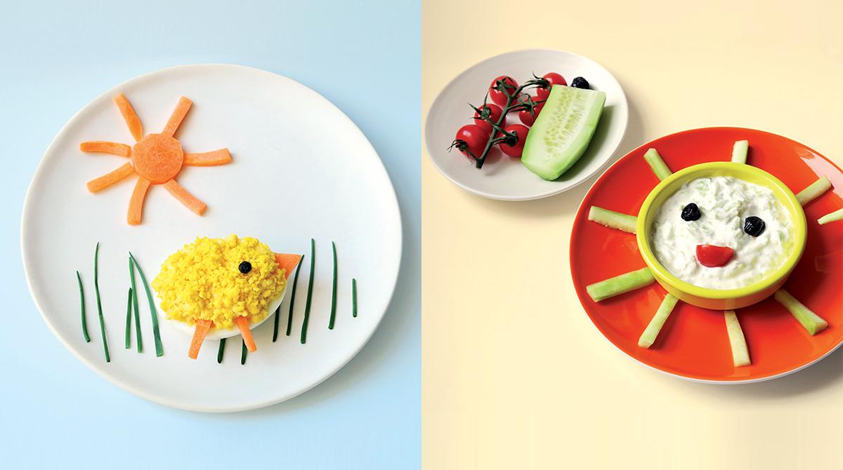 """""""Oh, les jolies assiettes ! - 4 recettes délicieuses, à picorer tout l'été"""". Pomme d'Api - Conception, réalisation et photos : Hélo-Ita."""