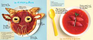 Recettes de la pi-pizza et de la pu-purée de fraise, extraites du magazine Pomme d'Api de juillet 2017 - Conception, réalisation et photos : Hélo-Ita.