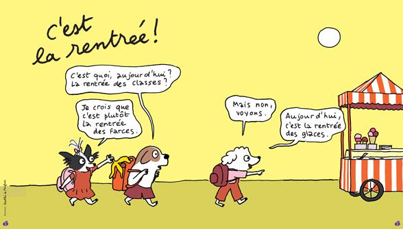 Pomme d'Api, septembre 2017, n° 619. Illustration : Dorothée de Monfreid.