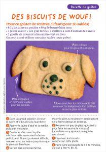 Téléchargez la recette pour préparer les biscuits de wouf !