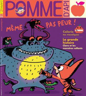 Pomme d'Api, novembre 2017, n° 621. Illustration : Serge Bloch (couleurs : Astrid Scaramus).