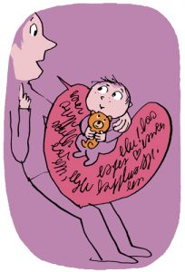 """""""Comment leur parler de la violence du monde ?"""", supplément pour les parents du magazine Pomme d'Api, novembre 2017. Illustrations Pascal Lemaître."""