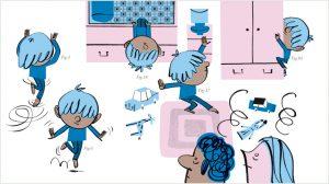 """""""Dors, je le veux !"""", supplément pour les parents, Pomme d'Api n°624, février 2018. Texte : Joséphine Lebard, illustrations : Jean-Louis Cornalba."""
