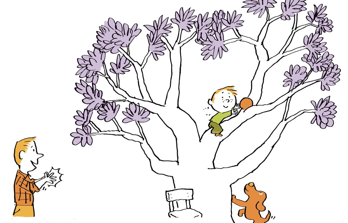 """""""Laissons-les oser !"""", supplément pour les parents du magazine Pomme d'Api, n°626, avril2018. Texte: Anne Bideault - Illustration: Pascal Lemaître."""