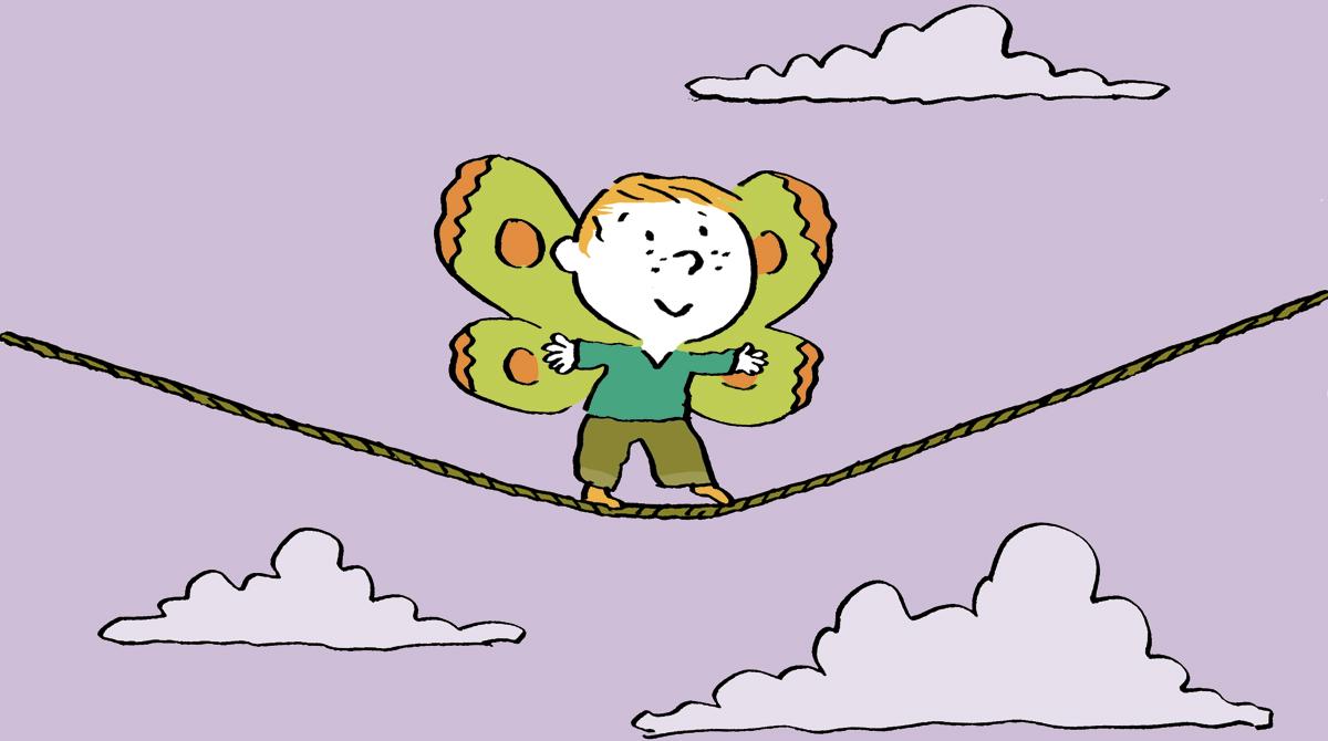"""""""Laissons-les oser !"""", supplément pour les parents du magazine Pomme d'Api, n° 626, avril 2018. Texte : Anne Bideault - Illustration : Pascal Lemaître."""