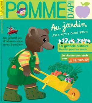 Pomme d'Api, avril 2018, n° 626. Illustration de couverture : Danièle Bour.
