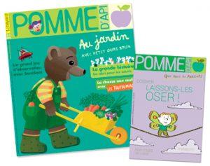 Couverture du magazine Pomme d'Api n°626 (avril 2018) et son supplément pour les parents