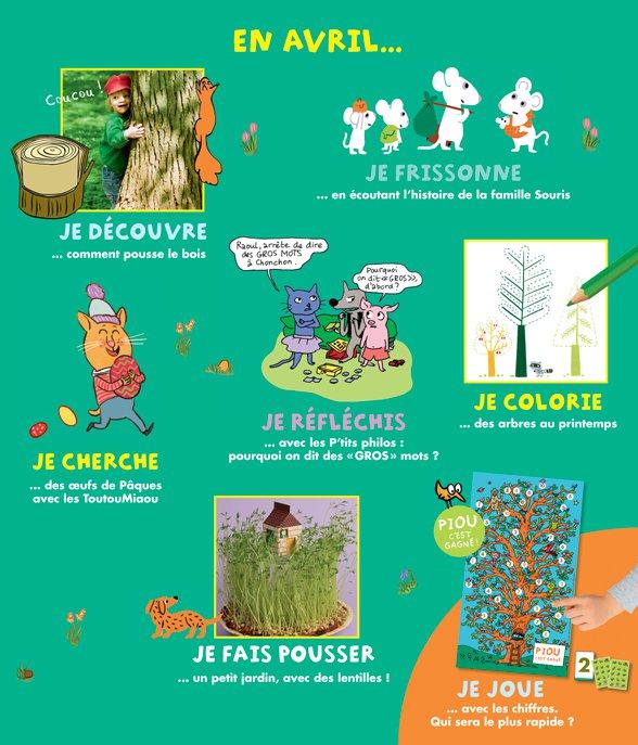 Au sommaire du magazine Pomme d'Api n°626, avril 2018