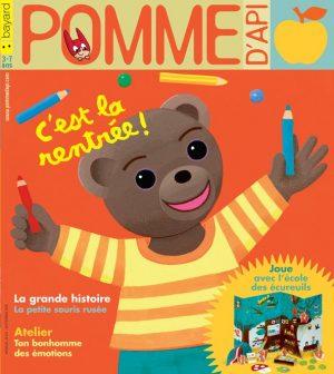 Pomme d'Api, septembre 2018, n° 631. Illustration de couverture : Danièle Bour.