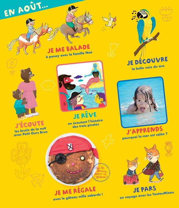 Sommaire du magazine Pomme d'Api n°630, août 2018