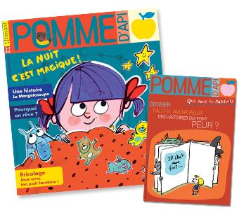 Couverture du magazine Pomme d'Api n°633, novembre 2018, et son supplément pour les parents.