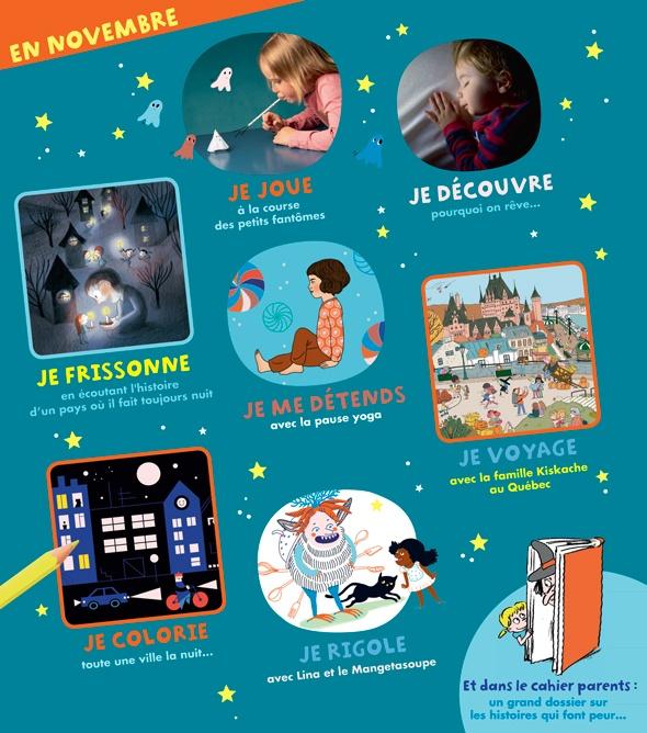 Sommaire du magazine Pomme d'Api n°633, novembre 2018.