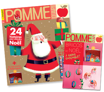Couverture du magazine Pomme d'Api n°634, décembre 2018, et son supplément pour les parents.