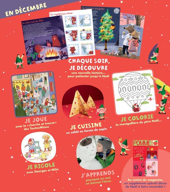 Sommaire du magazine Pomme d'Api n°634, décembre 2018.