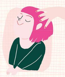 """""""La douceur fait grandir"""", supplément pour les parents du magazine Pomme d'Api n° 636, février 2019. Texte : Isabelle Vial, illustrations : Kei Lam."""
