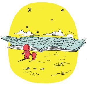 """""""La philosophie, un jeu d'enfant ?!"""", supplément pour les parents du magazine Pomme d'Api n° 635, janvier 2019. Texte : Sophie Furlaud, illustrations : Pascal Lemaître."""