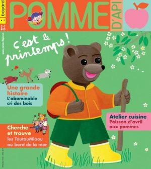 Pomme d'Api, avril 2019, n° 638. Illustration de la couverture : Danièle Bour