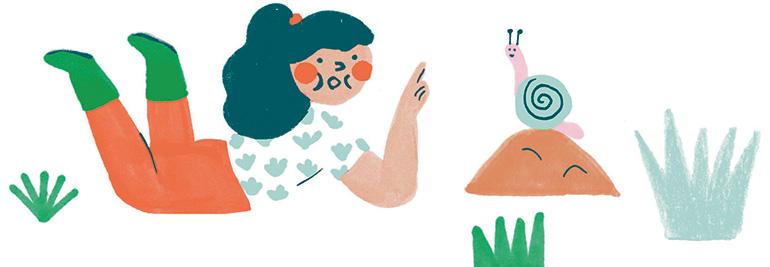 """""""À l'école de la nature"""", supplément pour les parents du magazine Pomme d'Api n°638, avril 2019. Texte : Anne Bideault. Illustrations : Chloé Perarnau."""