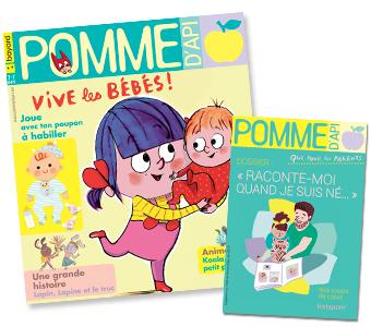Couverture du magazine Pomme d'Api n°640, juin 2019, et son supplément pour les parents.
